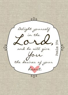 Delight Yourself in the Lord Printable