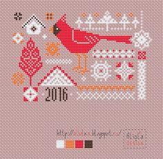 Мои творилки *** Aliolka design: Семплер с кардиналом