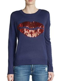 Sequined Lips Sweater