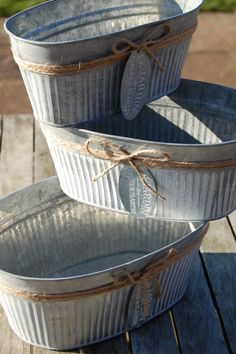 Set of 3 Zinc Oval Planters Zinc Planters, Online Gift Shop, Shabby Chic, Garden, Gifts, Shopping, Home Decor, Presents, Garten