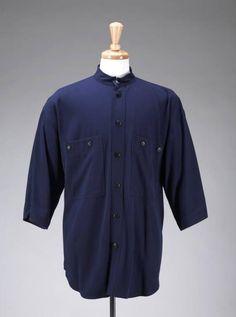Michele Michel blue button-collar shirt worn by Denzel Washington in Training Day