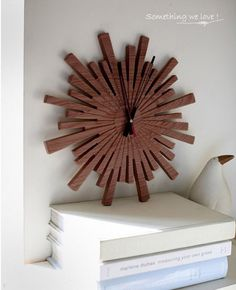 wood clock wall clock handmade annatto clock red by ZEALHOME, $95.00