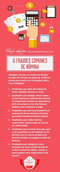 Nahun Frett: 6 Fraudes comunes de nómina Carta Formal, Job 3, Internal Audit, Smart Quotes, Business Sales, Work Tools, Control, Curriculum, Accounting