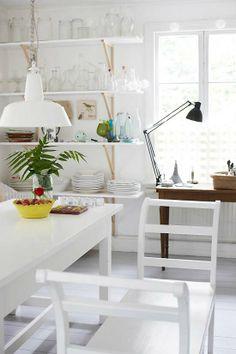 kitchen..white vintage ครัวสีขาวสไตล์วินเทจ โปร่งสบาย สะอาดตา