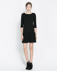 Image 1 of DRESS WITH OPENWORK SKIRT from Zara