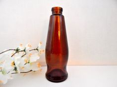 Amber Brown Glass Michelob Beer Bottle Vintage Collectible Breweriana Home Bar…