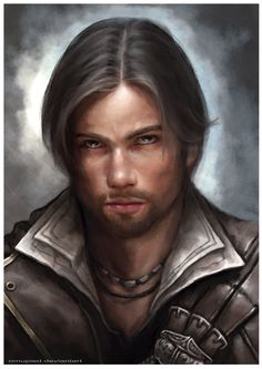 Ezio Auditore da Firenze - Assassin's Creed by omupied on deviantART Fantasy Portraits, Character Portraits, Character Art, Character Ideas, Fantasy Male, High Fantasy, Deviant Art, Dnd Characters, Fantasy Characters