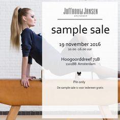 SAMPLE SALE - JUFFROUW JANSEN -- Amsterdam -- 19/11