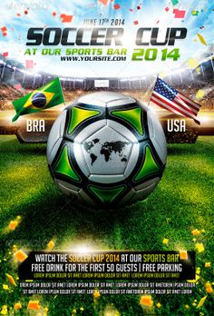 Brazil Soccer Cup 2014 Flyer Template - http://www.ffflyer.com/brazil-soccer-cup-2014-flyer-template-2/ Brazil Soccer Cup 2014 Flyer Template  #2014, #Bar, #Baseball, #Beer, #Brazil, #Club, #Football, #Lounge, #Sky, #Soccer, #Sports, #WorldCup