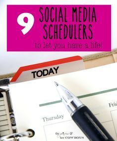 9 Social Media Scheduling Sites to Let you Have a Life! l The Princess & Her Cowboys