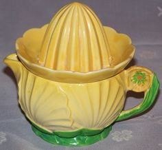 Carlton Ware yellow buttercup two piece juicer. Carlton Ware, Juicers, China Tea Cups, Vintage China, Buttercup, Fine China, Cup And Saucer, Pottery, Clay