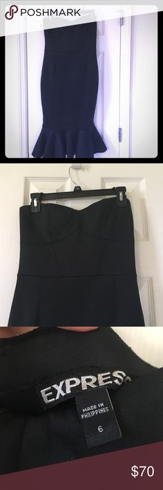 Express scuba dress.  Sz 6. Express scuba dress.  Sz 6.  Excellent condition, worn once for wedding. Express Dresses