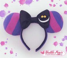 Cheshire Cat inspired Mickey Mouse ears (Disney, Cheshire, costume, Alice in Wonderland, Disneybound, Halloween)