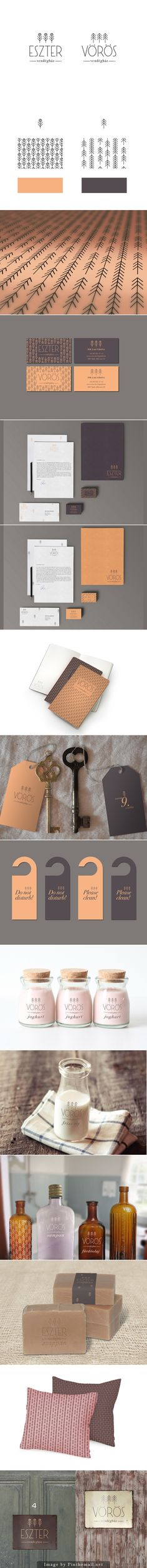 Eszter and Vörös Guesthouse who wouldn't want to stay here | #stationary #corporate #design #corporatedesign #identity #branding #marketing repinned by www.BlickeDeeler.de | Visit our website: www.blickedeeler.de/leistungen/corporate-design
