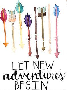 #arrows #watercolor #adventure #camscan