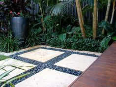 Pavers in tropical garden, . Pavers in tropical garden, garden inspiration stepping stones Tropical Garden Design, Tropical Landscaping, Tropical Plants, Backyard Landscaping, Tropical Backyard, Tropical Gardens, Landscaping Ideas, Garden Pavers, Garden Stepping Stones
