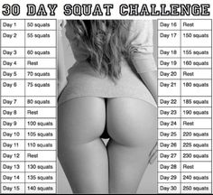 30 Day Squat Challenge for the perfect butt