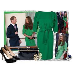 diane von furstenberg dress on duchess of cambridge. {love the buttoned back detail of this.}