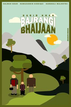 Bajrangi Bhaijaan Release dates 17 July 2015 bharath Iconic Movie Posters, Minimal Movie Posters, Minimal Poster, Movie Poster Art, Iconic Movies, Film Posters, Name That Movie, Guess The Movie, Bollywood Posters