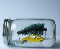 Nog een idee voor gebruikte glazen potjes.