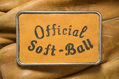 Belt Buckle  Official Soft-Ball by SoftSparkArt on Etsy