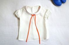 White Linen Peter Pan Collar Blouse by HarrietsHaberdashery