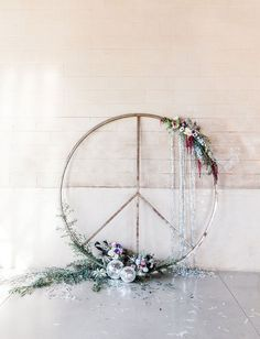 peace sign wedding backdrop