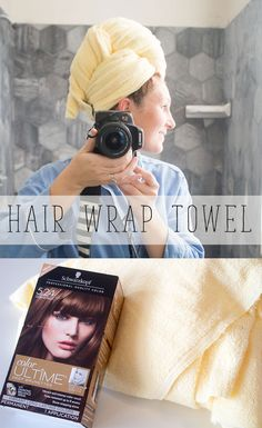 Make a hair wrap towel for your hair and also ready about my hair dye experience. Easy sewing tutorial #FashionColorExpert AD @walmart  @schwarzkopfusa
