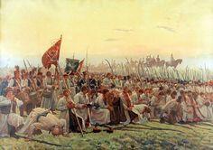 """Józef Chełmoński (1849-1914)🇵🇱🎨  """"Modlitwa (Przed bitwą pod Racławicami)"""", 1909"""