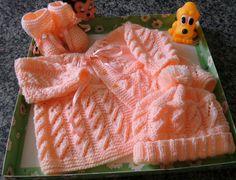 fios de lãs e linhas: Conjunto e Blusinha para bebê