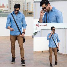 Look Trabalho/ Faculdade 👏 . A camisa jeans invadiu o guarda roupa masculino, opte por usar para ir ao trabalho( caso não tenha um trabalho tão formal) ou até faculdade, mantendo sempre a elegância, estilo e personalidade, a dica é usar Jeans de cores e lavagens diferentes 😉 . Você pode comprar o look inteiro na @revanche_men