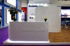 Booking.com Exhibition Stand Design by Elevations UK for ATM Dubai 2016.