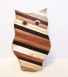 OWL  Cutting Board REDUCED PRICE Handcrafted from by tomroche, $11.00