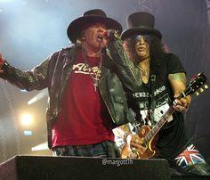 Axl Rose & Slash of Guns N' Roses, New Orleans, summer 2016 #axlrose… …