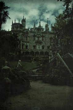 The castle- slightly, not that gothic and creepy. Abandoned Mansions, Abandoned Buildings, Abandoned Places, Spooky Places, Haunted Places, Haunted Castles, Photo Chateau, Gothic Castle, Beast's Castle