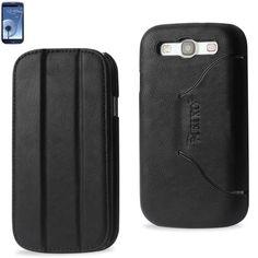 Reiko Fitting Case Samsung Galaxy S3- I9300 Horse Skin Texture Black