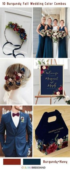 Fall wedding colors burgundy and navy blue wedding 10 Popular Burgundy Fall Wedding Colors Combos Navy Fall Weddings, Navy And Burgundy Wedding, Maroon Wedding, Navy Blue Wedding Theme, Vintage Weddings, Colors For Weddings, Navy Tux Wedding, Navy Blue Tux, Vintage Wedding Colors