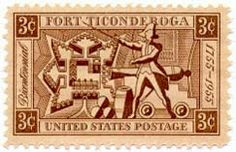 1955 3c Fort Ticonderoga Scott 1071 Mint F/VF NH  www.saratogatrading.com