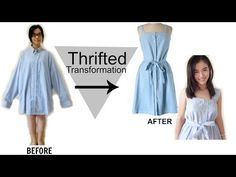 How to Turn a Men's Shirt from Goodwill into a Dress That's Perfect for Summer