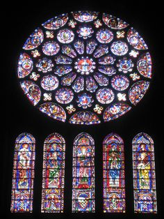 Chartes Cathedral - and I really want to see this rose window in person!