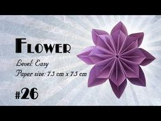 Origami Tutorial - How to fold Origami Kusudama Flower step-by-step - DIY - YouTube