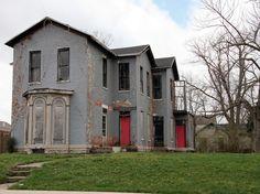 pink doors :]  Abandoned House, Dayton, OH