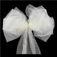 His & Hers Ivory Organza Bow | Shop Hobby Lobby