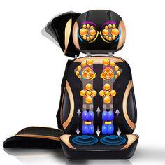 Body Massager electronic shiatsu shoulder massage Mat vibrating electric back shoulder neck massager for a chair #Affiliate