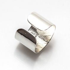 Sterling Silver Leaf Cuff Ring
