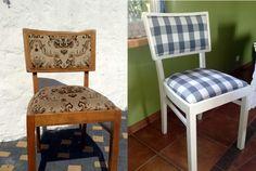 Chair renovation before&after Renowacja krzesła przed i po