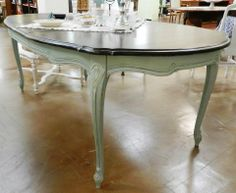 Love this kitchen table painted by BJR Designs!