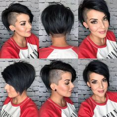 Well, one of the most trendy haircuts this year is the pixie haircut. Edgy Short Hair, Short Hair Undercut, Short Curly Haircuts, Short Hair With Layers, Undercut Hairstyles, Short Hair Cuts, Short Hair Styles, Short Edgy Hairstyles, Shaved Pixie