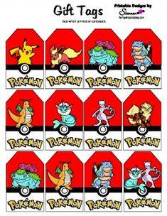 printable pokemon gift tags - Free Printable Pokemon Pictures