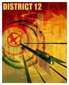 The Hunger Games Poster District 12 Print by PurpleCowPosters